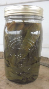 Pickled Ramp Leaves